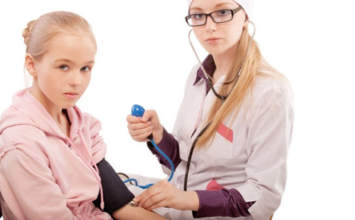 Измерение давления у ребенка