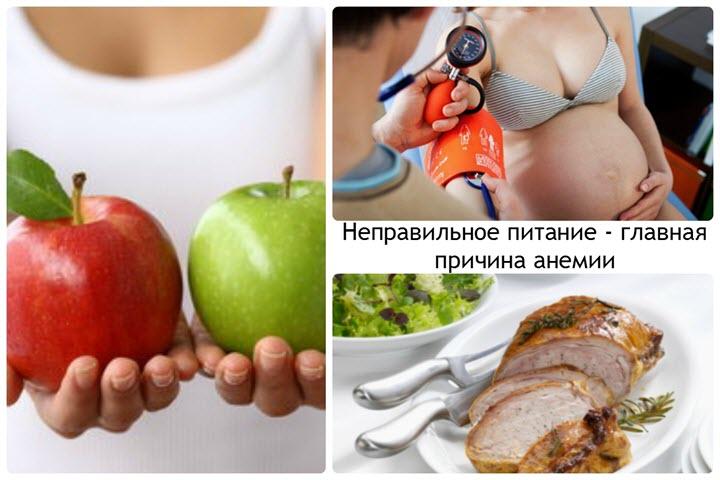 Неправильное питание как причина анемии