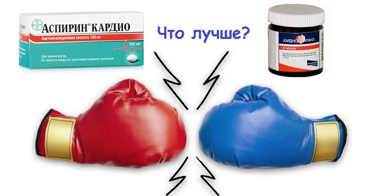 Аспирин кардио и Кардиомагнил