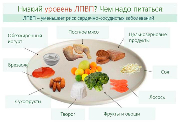 Питание при низком уровне ЛПВП
