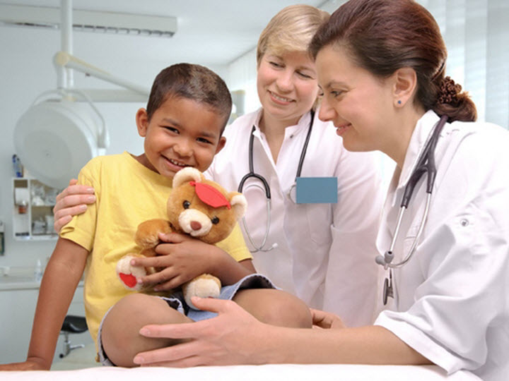 Ребенок на лечении